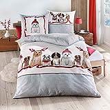 Traumschlaf Biber Bettwäsche Dogs 1 Bettbezug 135x200 cm + 1 Kissenbezug 80x80 cm