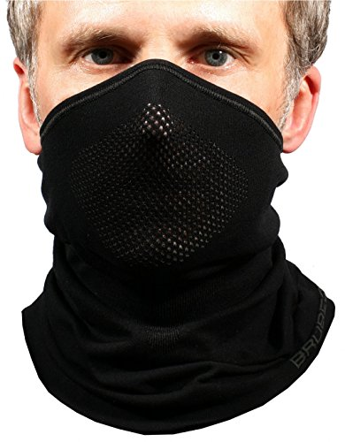 BRUBECK X-Pro halbe klimaoaktive Gesichtsmaske Sturmhaube Sturmmaske, Größen: L/XL; Farbe: X-Pro / Black