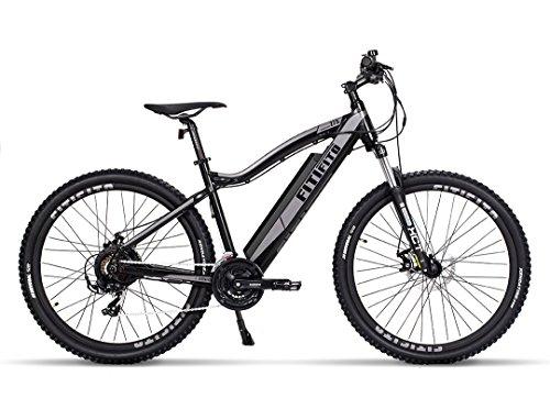 Fitifito MT 27,5 Zoll Elektrofahrrad Mountainbike E-Bike Pedelec, 36V 13Ah 468Wh LG Cells Lithium-Ionen USB , 36V 250W Heckmotor, 21 Gang Shimano Schaltung, Mechanische Scheibenbremse