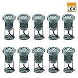 Gartenleuchte mit Kabel Gartenbeleuchtung IP65 Wasserdicht, LED Gartenstrahler 3W Warmweiss Bodenleuchte Schwenkbar AC230V