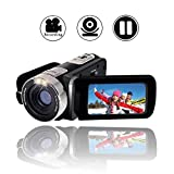 Videokamera Full HD 1080p Digitalkamera 24.0MP Webcam 2.7'LCD drehbarer Bildschirm 16x Digitalzoom Camcorder HD mit Pausenfunktion