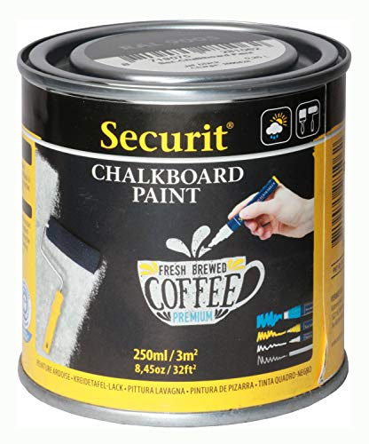 Securit PNT-BL-SM Tafellack PAINT, schwarz, 250 ml