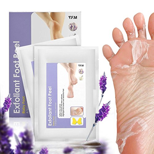 Fußmaske, Luckyfine 2 Paar Fuß Peeling Maske Peeling Socken Schwielen und abgestorbene Haut Entferner Baby Füße, Hornhautsocke