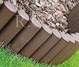 Palisade Beetumrandung Rasenkante Beeteinfassung 2,7m 4 Farben von rg-vertrieb (Braun)