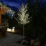 LED-Baum weiß 240 cm hoch Lichterbaum 240 LED warmweiß für innen außen von Gartenpirat