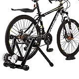 Pinty Rollentrainer Fahrrad Fahrradtrainer Hydraulik Bremse für Fahrräder Trainingsrolle 26''-29'' bis zu 136 Kg belastbar Fluid Bike Trainer Stand Heimtrainer Fahrrad Fahrradfahren zu Hause ruhig faltbar