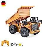 RC ferngesteuerter Kipper Tieflader Dump Truck 2.4GHz Edition, kippbarer Ladefläche und vieles mehr, Komplett-Set inkl. Fernsteuerung, Akku und Ladegerät!!