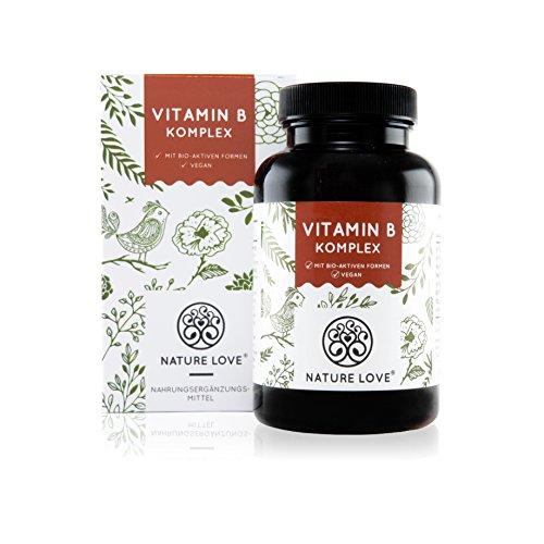 Vitamin B Komplex Kapseln - 180 Stück im 6 Monatsvorrat. Zum Einführungspreis. Alle 8 B-Vitamine. Premium-Qualität: mit bio-aktiven Vitamin B Formen (aktiviertes B12, B9, B6, B2). Dadurch sehr hohe Bioverfügbarkeit.