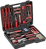 Meister Haushaltskoffer 60-teilig  Werkzeug-Set  Werkzeug für den täglichen Gebrauch | Werkzeugkoffer befüllt | Werkzeugset | Werkzeugbox komplett mit Werkzeug | Werkzeugsortiment | 8973630