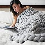 BABIFIS Babydecke, Dicke Linie handgewebte Decke für Erwachsene Wollteppich für Kinder Wirklich weich, bequem und atmungsaktiv