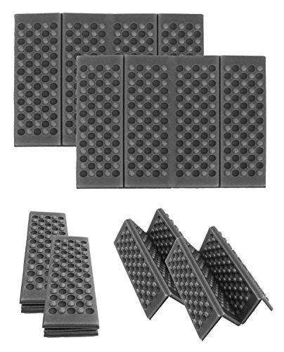 2 x Sitzkissen faltbar Thermokissen Stadionkissen Stuhlkissen Stuhlauflage Iso-Kissen klappbar schwarz 40x30x1cm