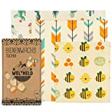 Weltheld Bienenwachstücher| Bienenwachstuch Biene | Beewax Wrap | Bio Wachspapier | plastikfrei | Ersatz für Frischhaltefolie