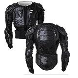Motorrad Vollkörper Rüstungsschutz Pro Street Motocross ATV Schutzhemd Jacke mit Rückenschutz (Schwarz, XL)