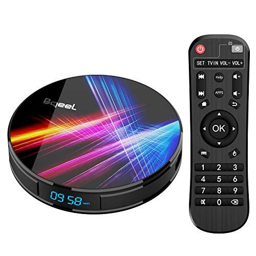 Bqeel Android TV Box R1 PRO【4G+32G】 Android 9.0 TV Box mit RK3318 Quad-Core 64bit Cortex-A53/ unterstützt WiFi 2.4G/5.0G /Bluetooth 4.0/ 4K/HD/ USB 3.0/ HDMI 2.0a/H.265 Smart tv Box Android Box