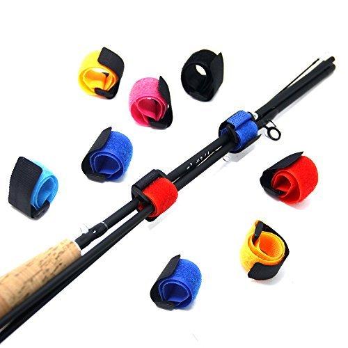 Samsfx Angel-Gurtbänder, Binder mit Gegen-Schnalle, Angelruten-Halter, Zubehör