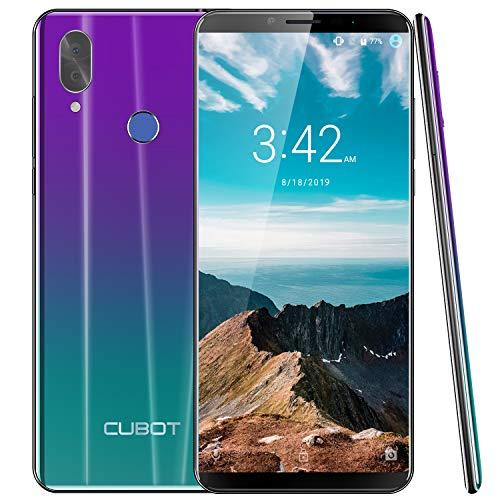 CUBOT X19 4G LTE Smartphone ohne Vertrag Handy 5.93″ FHD Display, 64GB Speicher, 4GB RAM, 4000mAh Akku, Dual-Kamera, Dual-SIM, Android Oreo 8.1 Wird auf Android 9.0 aktualisiert, (Twilight)