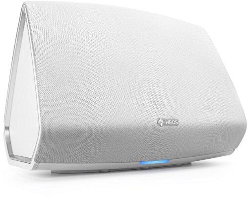 Denon HEOS 5 HS2 Audio-streaming Lautsprecher (Multiroom, Amazon Music, Spotify connect, Deezer, Tidal, Soundcloud, NAS, Bluetooth integriert, WLAN, USB, Appsteuerung, Aux-In) weiß