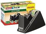 tesa Easy Cut Economy Klebebandabroller mit ecoLogo für Tische / Ökologischer Tischabroller mit Anti-Rutsch-Technologie für Klebefilm bis 33 m x 19 mm