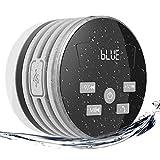 EXTSUD IPX7 Bluetooth Lautsprecher, mit FM Radio 5W Tragbarer Duschradio Wireless Lautsprecher Badradio Freisprecheinrichtung für Outdoor, Dusche (Grau)
