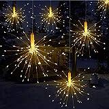 Towinle LED Lichterkette Feuerwerk Lichterketten Weihnachten LED Dekoration Weihnachtslichterkette Batteriebetrieben Fernbedienung