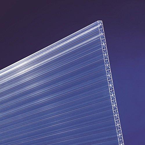 Polycarbonat Stegplatten 16 mm X-Struktur klar (2500 x 1200 x 16 mm)