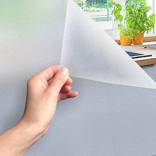 MARAPON Fensterfolie Milchglas Selbstklebend [90x200 cm] - Milchglasfolie Selbstklebend ohne Kleber - Statische Bad Folie Matt - Sichtschutzfolie Fenster