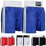Farabi Pro Boxing Shorts for Boxing Training Punching, Sparring Fitness Gym Clothing Fairtex jiu Jitsu MMA Muay Thai Kickboxing Equipment Trunks (Blue, Small)