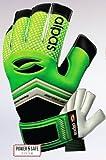 alpas Torwarthandschuhe PowerSafe V2 Hellgrün (Fingersave) Gr. 3 bis 12 *NEU* (optional mit Ihrem Druck) (6)