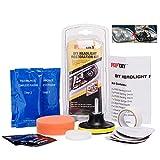 FMS Scheinwerfer Aufbereitungs-Set DIY Polier und Pflege Set Headlight Polish inklusive UV Schutz und Bohrmaschinenaufsatz