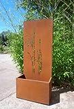 Garten Sichtschutz aus Metall Rost Gartenzaun mit Pflanzschale Gartendeko edelrost Sichtschutzwand PF0022 120*50*25CM