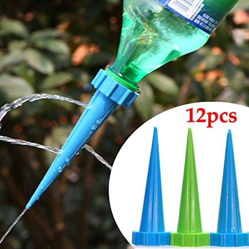Bluelover 12Pcs Garten Bewässerung Tropf Controller Topfpflanzen Pflanze Blumentopf Automatische Bewässerung Kits