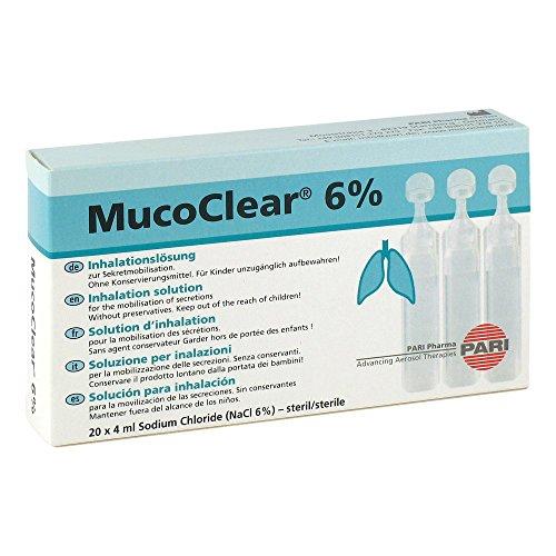 Mucoclear 6 % Inhalationslösung Ampullen, 20 St.