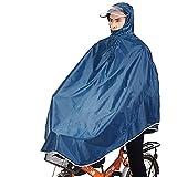 Tourwin Windjacke Fahrrad Regenjacke mit Kapuze, Poncho, 1 Stück Blau navy