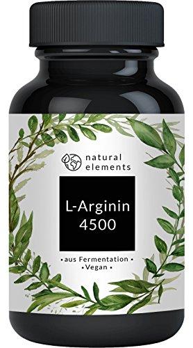 L-Arginin - Einführungspreis - 365 vegane Kapseln - 4500mg pflanzliches L-Arginin HCL pro Tagesdosis (= 3750mg reines L-Arginin) - Ohne unerwünschte Zusätze - Laborgeprüft - Hochdosiert, vegan und hergestellt in Deutschland