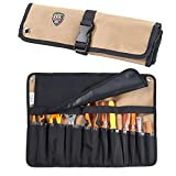 Babimax Rolltasche Werkzeugetasche 600 Denier Nylon aus Oxford 10 Fächer 45x32x1cm Stifthalter leicht tragbar leer wasserdicht für Techniker, Elektriker und Mechaniker