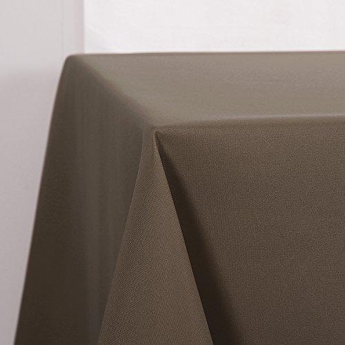 Deconovo Tischdecke Wasserabweisend Tischdecke Lotuseffekt Tischtücher 130x220 cm Dunkelbraun