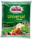 Substral Grünkorn Universaldünger, Hochwertiger, nitratfreier Gartendünger für Blumen, Sträucher, Koniferen, Gemüse, Obst und Rasen mit langanhaltender Wirkung - 7 kg Sack