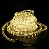 LED Lichterschlauch Lichtschlauch Lichterkette Licht Leiste 36LEDs/M Schlauch für Innen und Außen IP44 6M Warmweiß