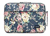 KAYOND Laptophülle 15 Zoll, Laptoptasche Laptop Sleeve Wasserabweisendmit Zubehörfach Kompatibel mit ThinkPad MacBook (Blau Rose, 15-15,6 Zoll)