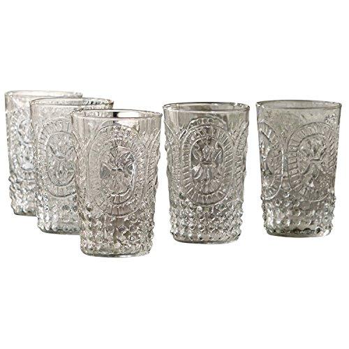 Loberon Gläser 6er Set Fleury, Glas, H/Ø ca. 11/7 cm, klar