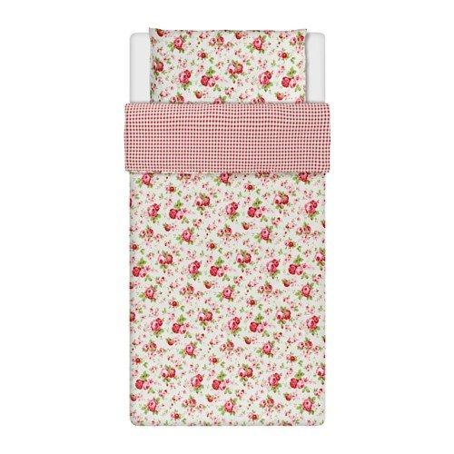 IKEA ROSALI Bettwäscheset in weiß; 100% Baumwolle; 2tlg.; (140x200cm und 80x80cm)