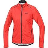 GORE WEAR Damen wasserdichte Fahrrad-Jacke, C3 Women Gore-TEX Active, 42, 100041 lumi orange/Terra Grey,