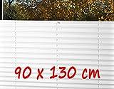 KS-Direkt Thermo-Plisse Plissee ohne Bohren Plise Faltrollo Jalousie Faltrollo Rollo (90 x 130)