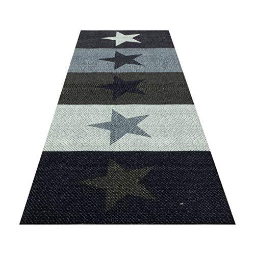 HOMEFACTO:RI Küchenläufer Küchenteppich Teppichläufer Brücke Sterne Stars | waschbar, Größe:ca. 60 x 180 cm, Designs:Sterne | bunt