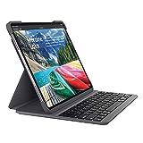 Logitech SLIM FOLIO PRO, Bluetooth Tastatur-Case  mit Hintergrundbeleuchtung für iPad Pro 12,9' (3. Generation)