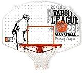 New Port Outdoor Mit Netz Basketballkorb, Weiß/Grau/Orange, One Size