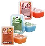Kosmetex Paraffinbad Mix Paket Pfirsich, Aloe Vera, Rosa-Rose Duft, Paraffin-wachs mit niedrigeren Schmelzpunkt, 6x 500ml Mixpaket