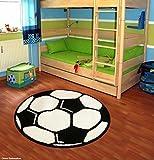 Fußball Teppich Rund Kinderteppich, Durchmesser Rund in cm:100