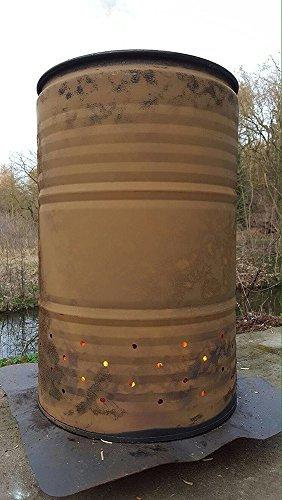200 Liter Metallfass Metalltonne Tonne Brenntonne Feuertonne Blechfass Ghetto