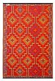 Fab Hab - Lhasa - Orange & Violett - Teppich/ Matte für den Innen- und Außenbereich (120 cm x 180 cm)